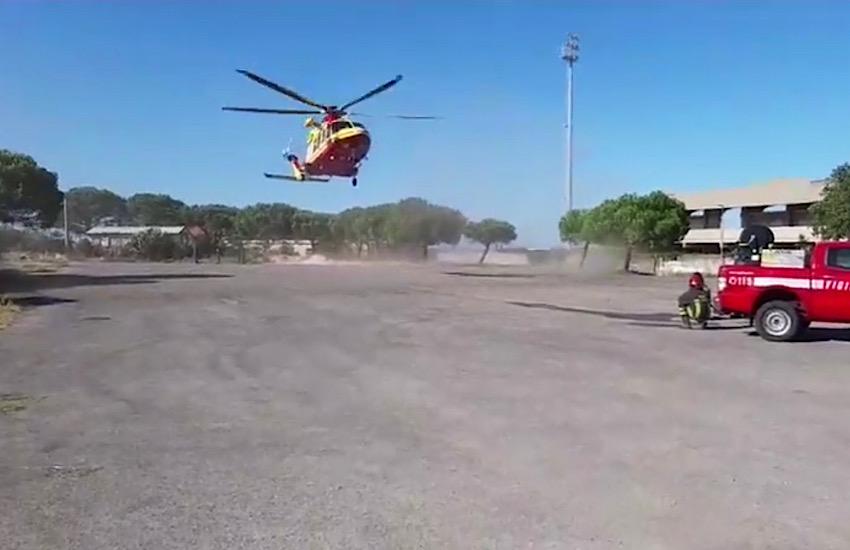 Campomarino lido, bimbo di 4 anni con arresto cardiaco trasportato a Roma
