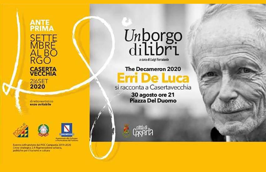 "Erri De Luca si racconta a Settembre al Borgo con ""The Decameron 2020"""