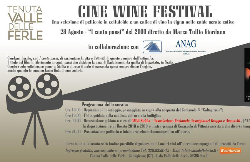 """""""Cine Wine Festival"""", quinto appuntamento venerdì 28 agosto con """"I Cento Passi"""" (2000), di Marco Tullio Giordana"""