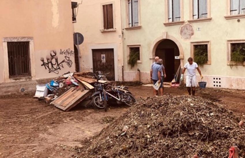 """Nubifragio Verona, Zaia: """"Danni per decine di milioni di euro"""". Sboarina: """"No alle strumentalizzazioni"""". Parchi e aree cani chiusi."""
