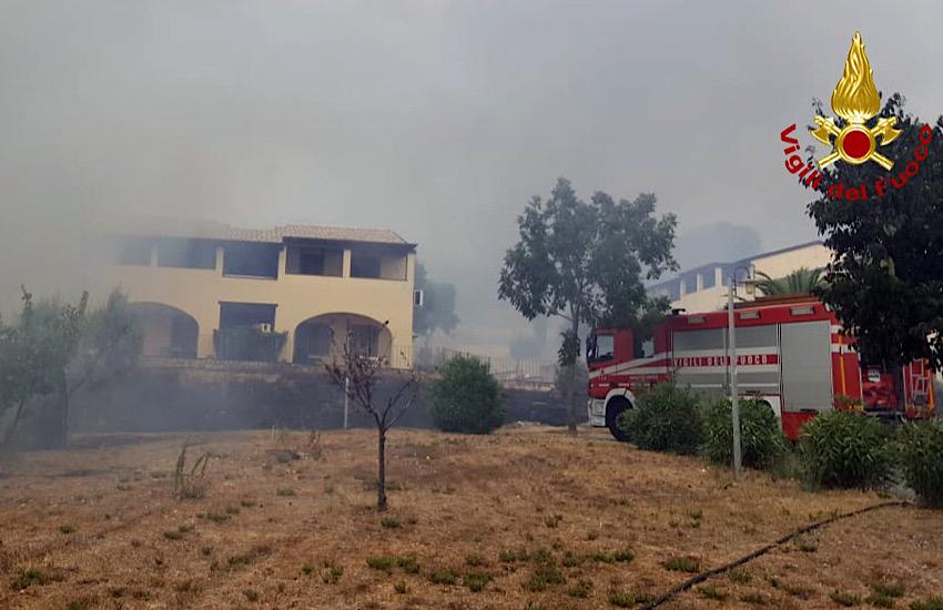 Incendio in località Cafaggio