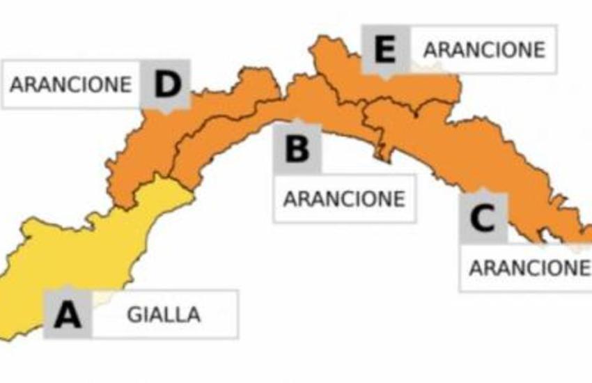 Meteo, allerta arancione lunedì dalle 7 alle 17: attesi temporali sul centro della Liguria