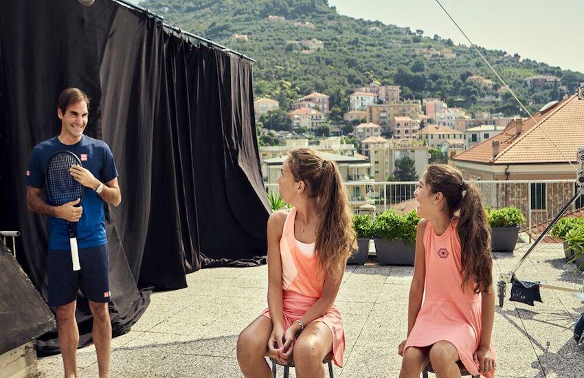Federer gioca sui tetti grazie a Barilla