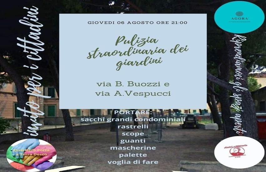 Ripulire la città: ieri le associazioni al lavoro nei giardini di via B. Buozzi e M. Polo