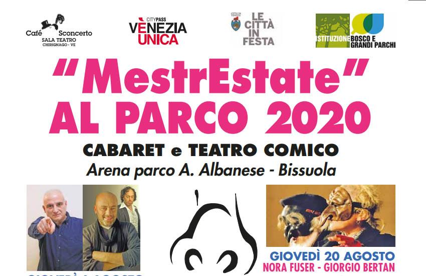MestrEstate al Parco 2020: cabaret, comicità e risate
