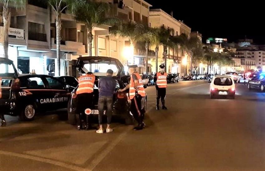 Ferragosto, controlli dei carabinieri a Milazzo e nelle Eolie: 16 denunciati, 1 discoteca chiusa