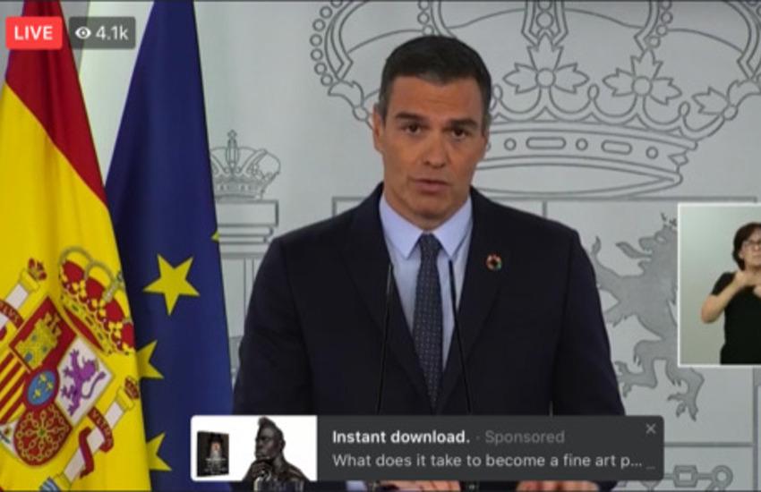 Spagna, impennata dei contagi. Il premier Sanchez schiera l'esercito