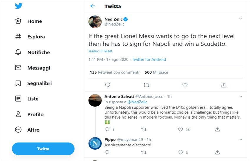 """Zelic spinge Messi a Napoli: """"Per essere il più grande deve vincere in azzurro"""""""