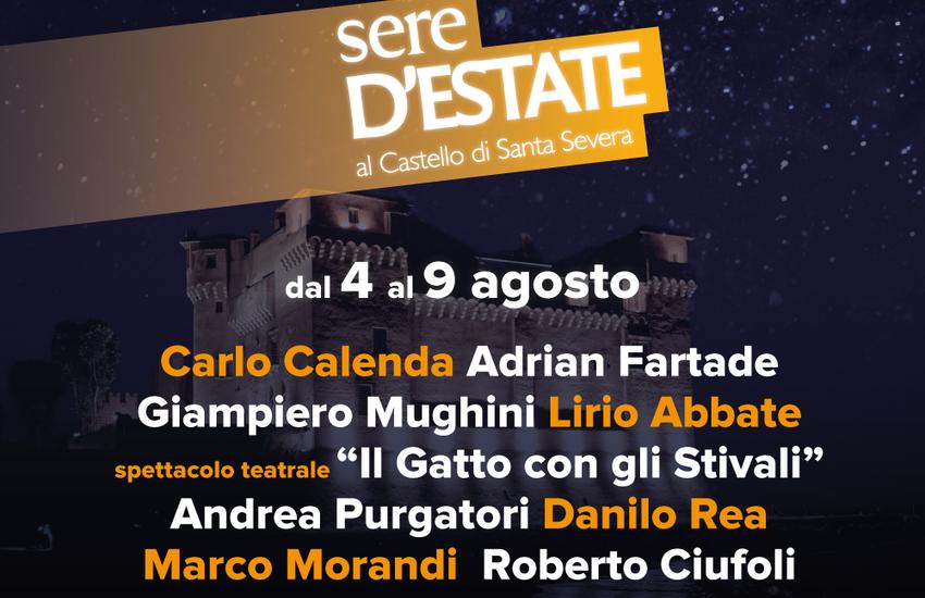 Castello di Santa Severa: Calendario del Festival Sere d'Estate fino al 9 agosto