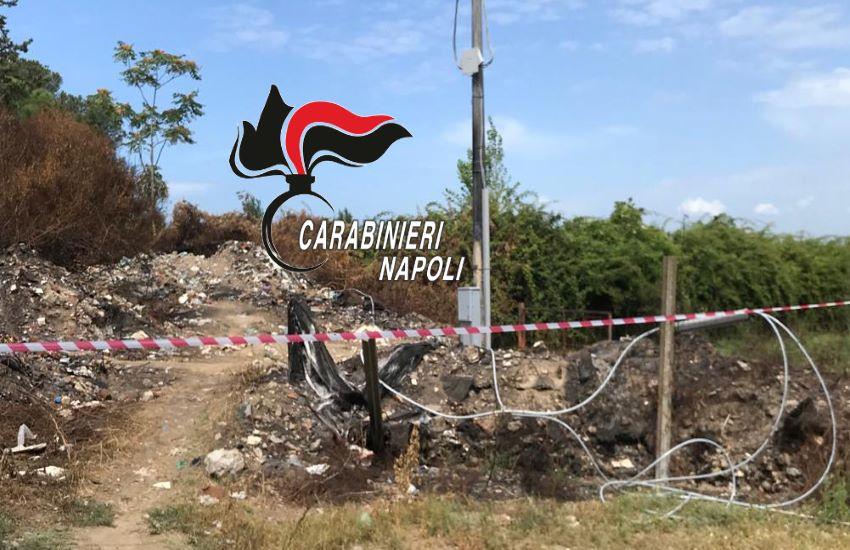 Sicurezza ambientale. Servizio di contrasto allo smaltimento illecito di rifiuti. Carabinieri denunciano 2 persone. Sequestrata area di 1000 metri quadrati