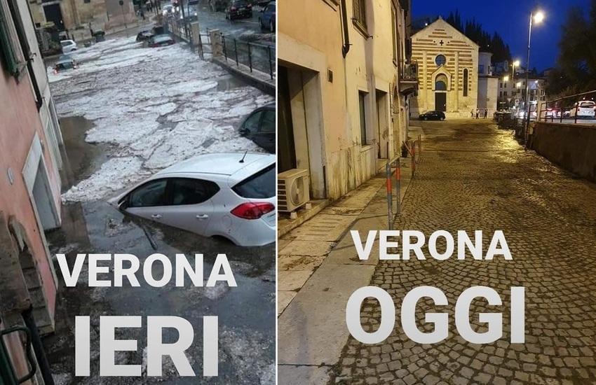 """Zaia posta foto di Verona dopo 24 ore dal nubifragio: """"orgoglio veneto"""""""