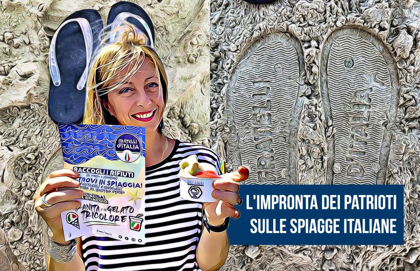 Ciabatte gratis in cambio di un rifiuto: la campagna ecologista di FdI arriva a Terracina
