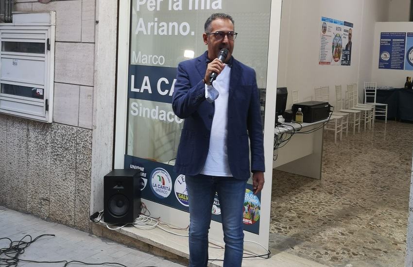 """Ariano Irpino – La Carità """"apre"""" il comitato elettorale: la città torni protagonista in Irpinia"""