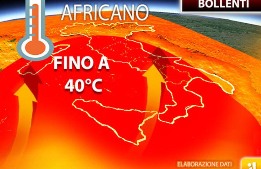 meteo ondata caldo africano