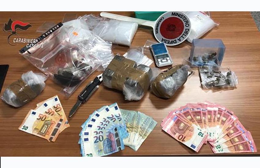 Oltre 2 kg di stupefacenti in casa. Arrestato 38enne di San Felice a Cancello