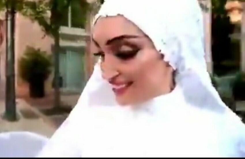 Beirut, la sposa felice prima dell'inatteso: il video