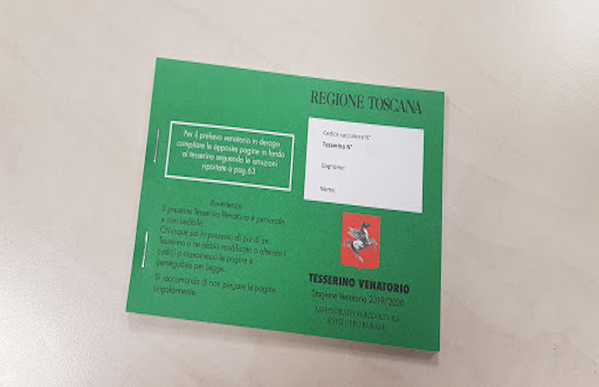 Dal 6 agosto la consegna dei tesserini venatori 2020/21: cosa fare per evitare code