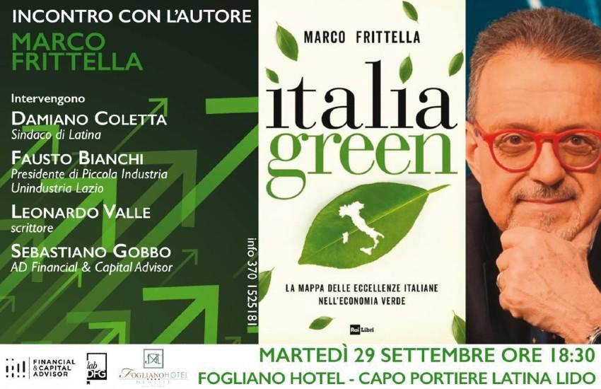 """Il giornalista del Tg1 Marco Frittella presenta all'hotel Fogliano il suo libro """"Italian Green"""""""