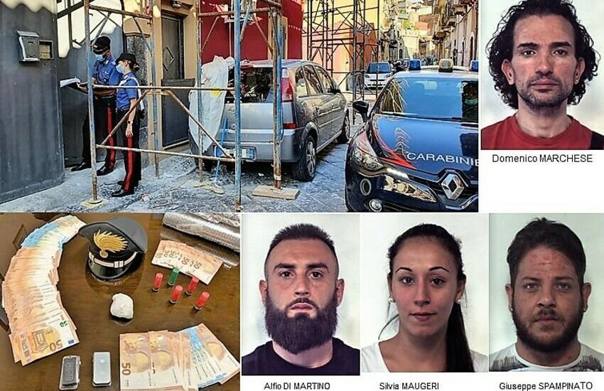 San Cristoforo, blitz antidroga, 4 le persone arrestate, sequestrati cocaina e ingenti somme di denaro