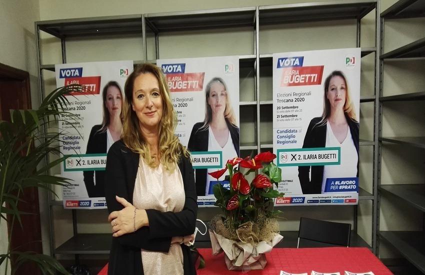 """Negli ex locali di Dante Tessuti il comitato elettorale di Ilaria Bugetti: """"Qui mia madre sceglieva i tessuti"""""""