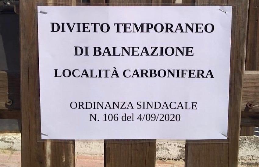 Firmata ordinanza per divieto di balneazione a Carbonifera