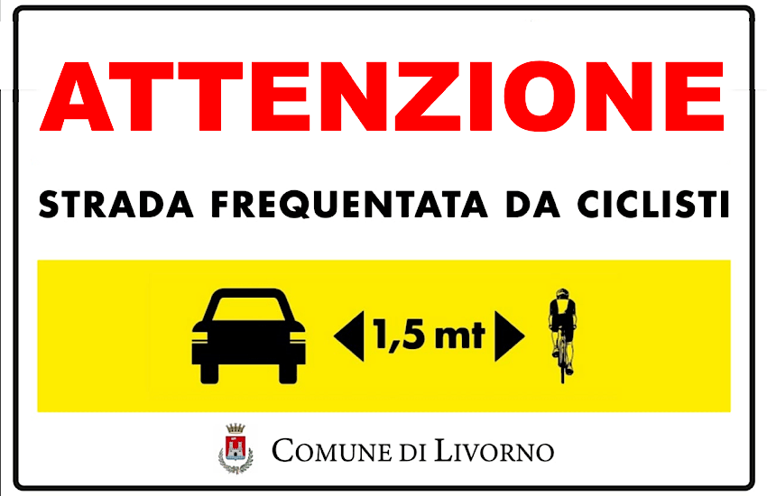 "Sabato 12 settembre all'Hotel Rex Paola Giannotti e i cartelli ""salva ciclisti"""