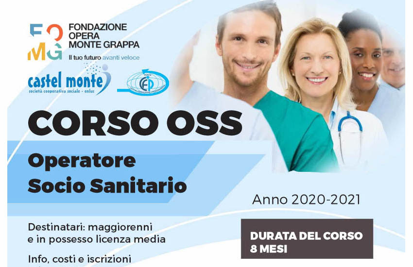 OPERATORE SOCIO SANITARIO:  UN NUOVO CORSO DELLA FONDAZIONE OPERA MONTE GRAPPA