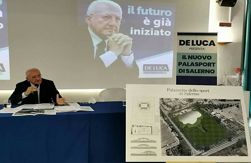 """Palazzetto dello Sport a Salerno, De Luca: """"Occasione troppo ghiotta"""""""