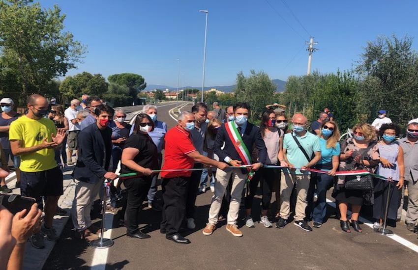 Aperto il nuovo collegamento tra la Tangenziale e via Mozza dei Gelli