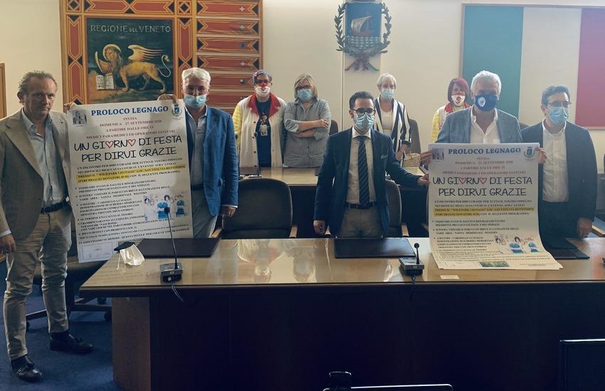 Legnago dona le chiavi della città all'ospedale e celebra il personale sanitario con una festa di ringraziamento