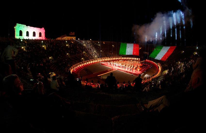 Arena di Verona: bilancio estivo positivo con 2mila spettatori e incasso di oltre 100mila euro a serata