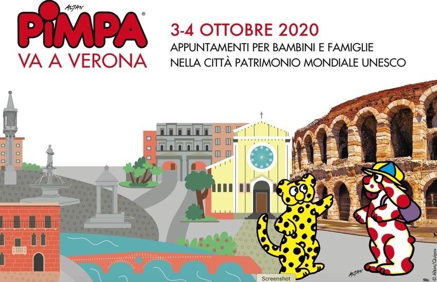 """La Pimpa """"firma"""" una guida dedicata a Verona"""