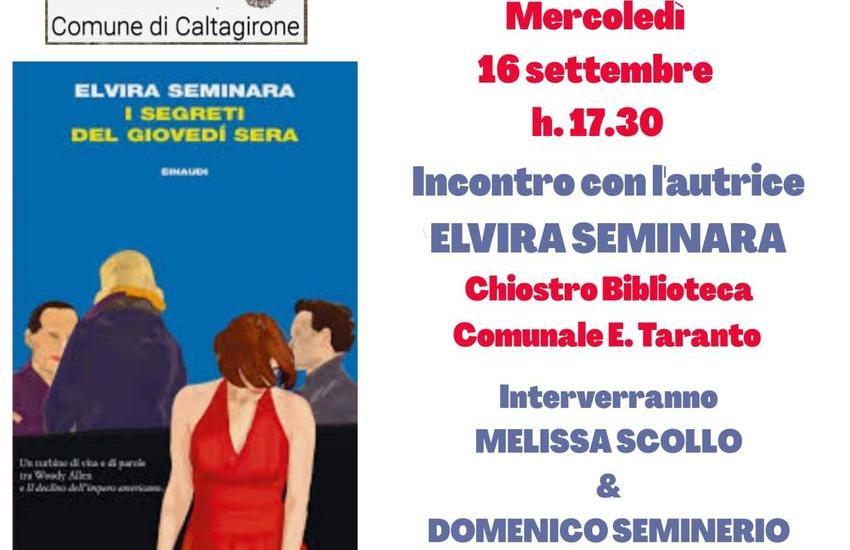"""Caltagirone, Elvira Seminara presenta i """"segreti del giovedì sera"""""""