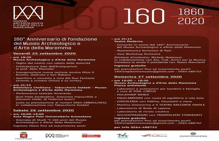 160 anni del Museo archeologico e d'arte della Maremma: al via le celebrazioni
