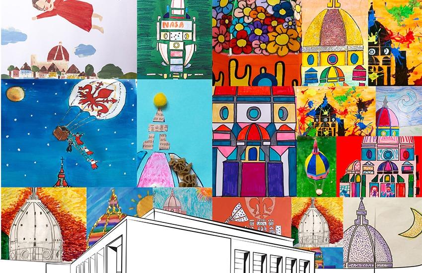 """Ecco la Cupola """"fantastica"""" vista dai disegni dei bambini. Gli Architetti e il contest su Brunelleschi"""