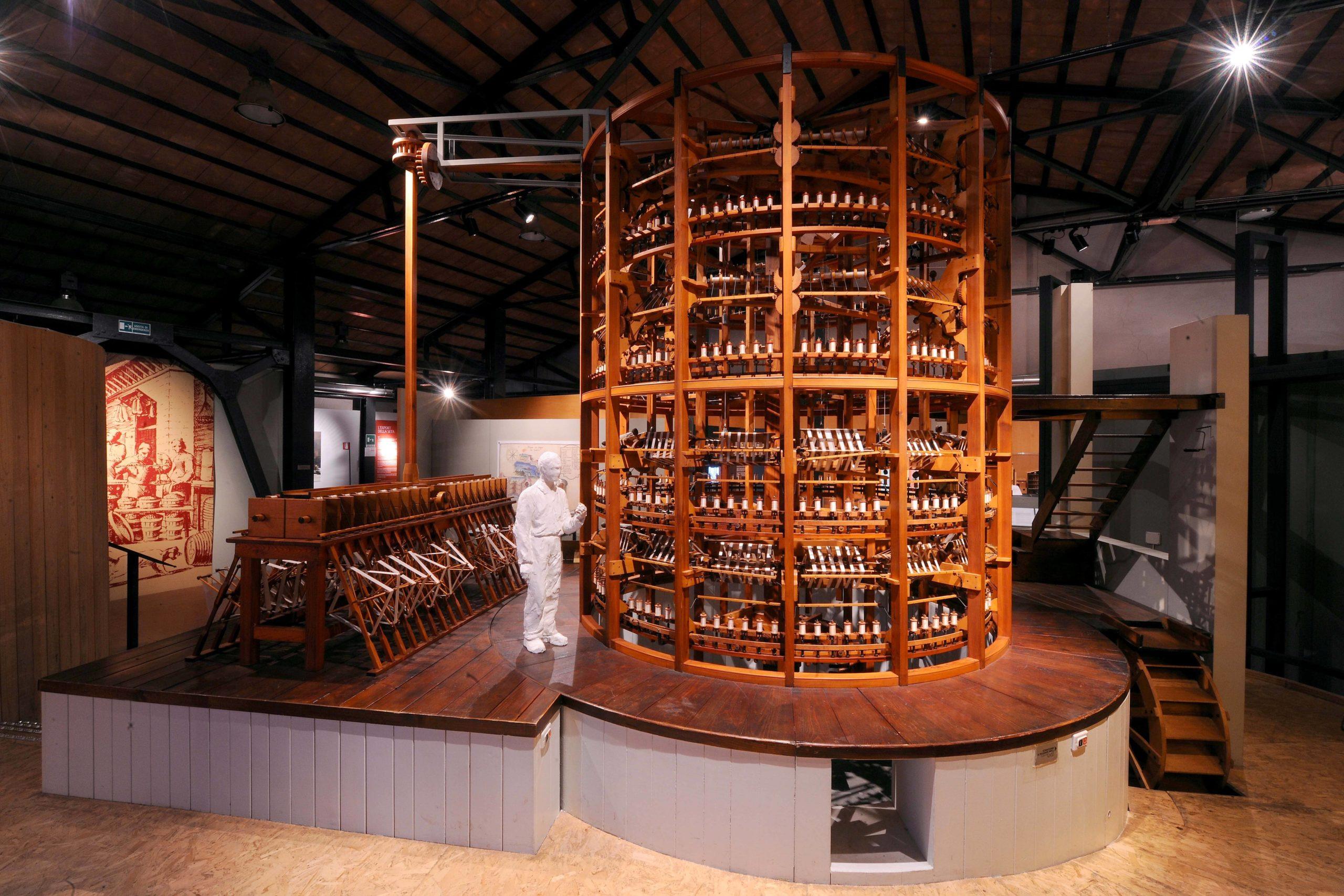 Esemplare del mulino da seta conservato nel Museo del Patrimonio Industriale di Bologna Foto Roberto Serra