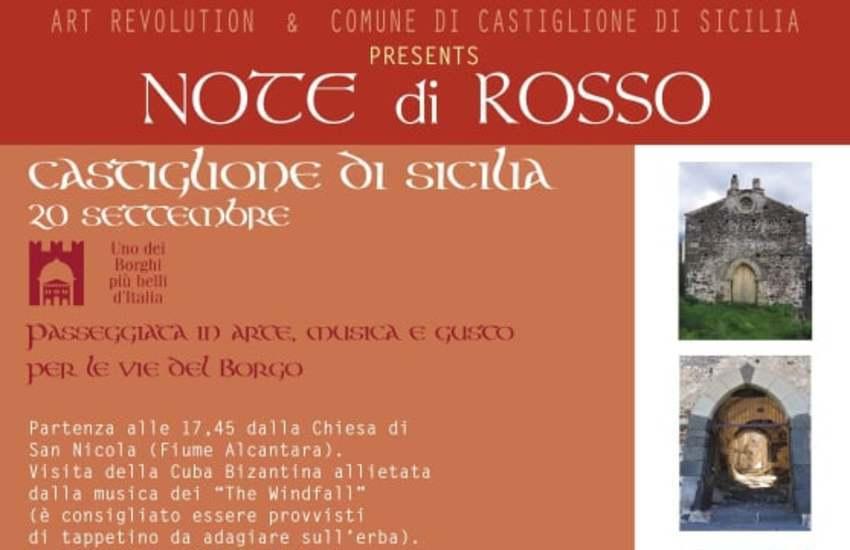 """Castiglione di Sicilia, domenica 20 la kermesse """"Note di Rosso"""""""