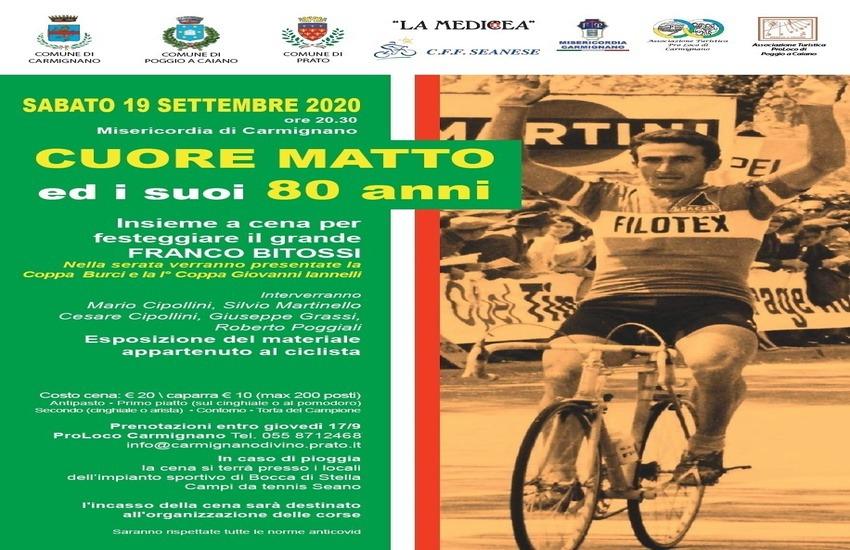 Il campione Franco Bitossi spegne 80 candeline a Carmignano
