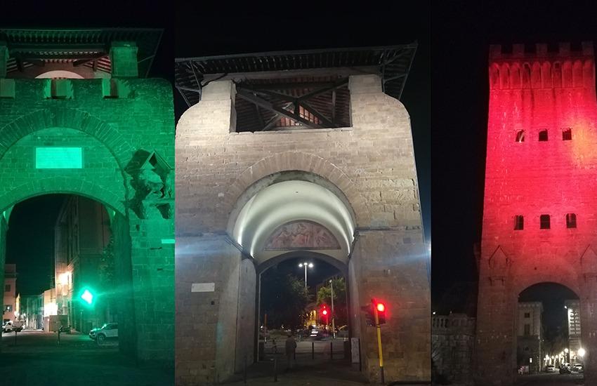 A 150 anni dalla Breccia di Porta Pia, Firenze illumina col tricolore le porte della città