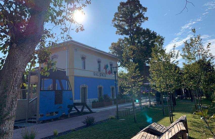 A Salionze inaugurata Borgo Stazione, la prima bike station per i cicloturisti