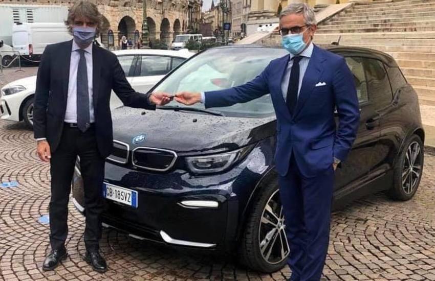 Verona, arriva la prima auto elettrica in Comune