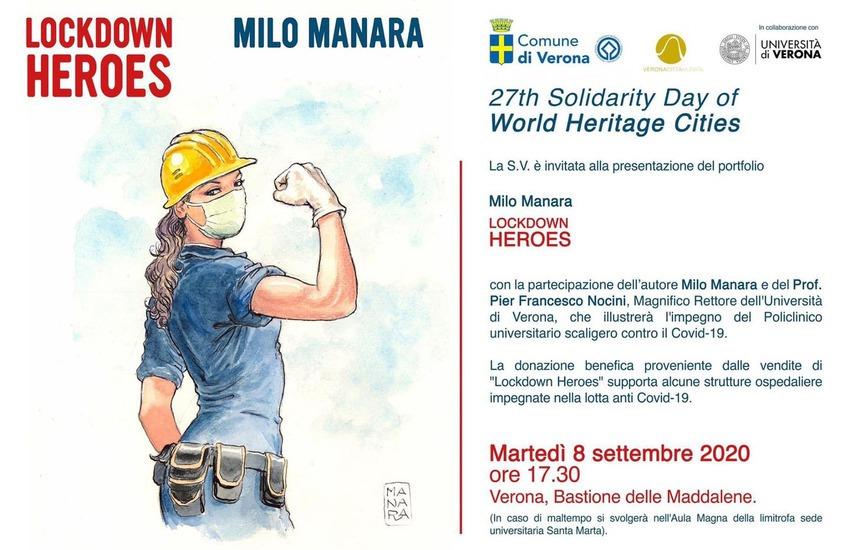 Milo Manara a Verona per Lockdown Heroes, dedicata alle donne eroine del Covid