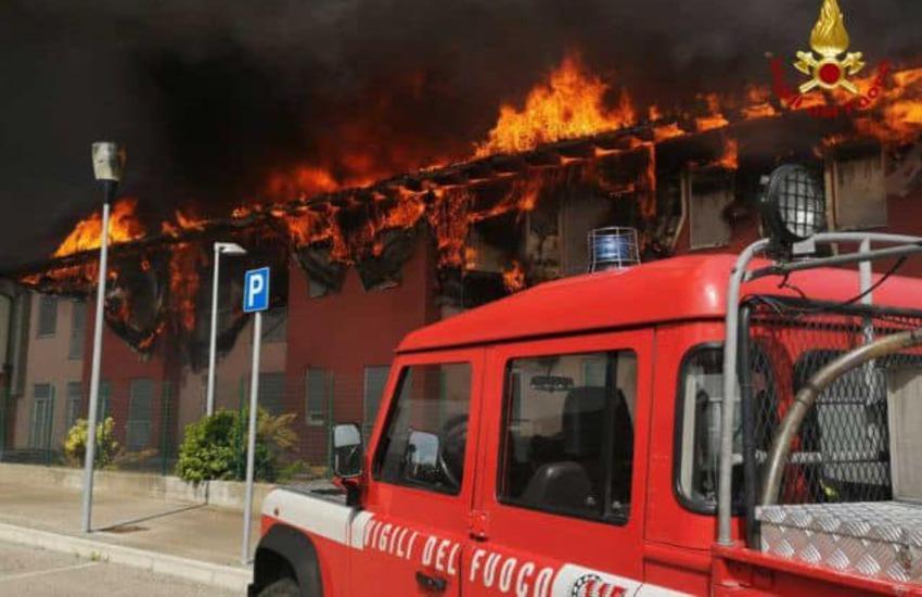 Albaredo, incendio alla casa di riposo: salvi tutti gli ospiti