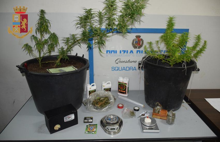 Marijuana, cocaina e proiettili in casa, denunciati due giovani leccesi