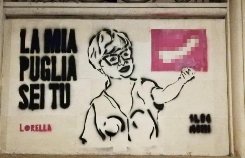 Murales sessista contro Loredana Capone. Chiesta la rimozione