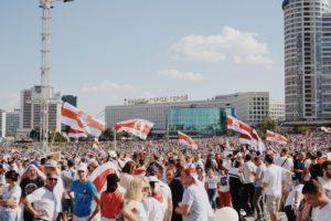 Protesta pacifica in Bielorussia: sostegno bolognese