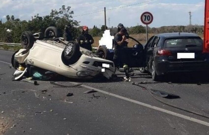 Terribile scontro sulla via per Campi, c'è un ferito grave
