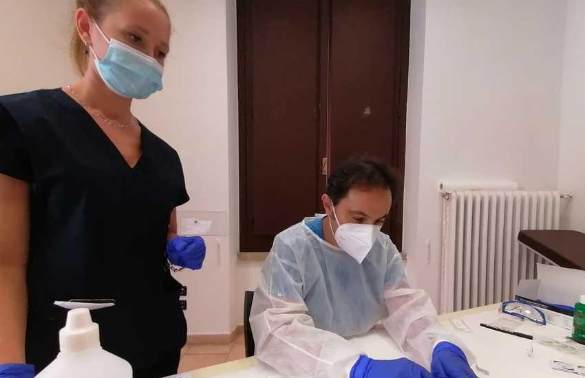 Test sierologici in piazza a Montemurlo e Bagnolo