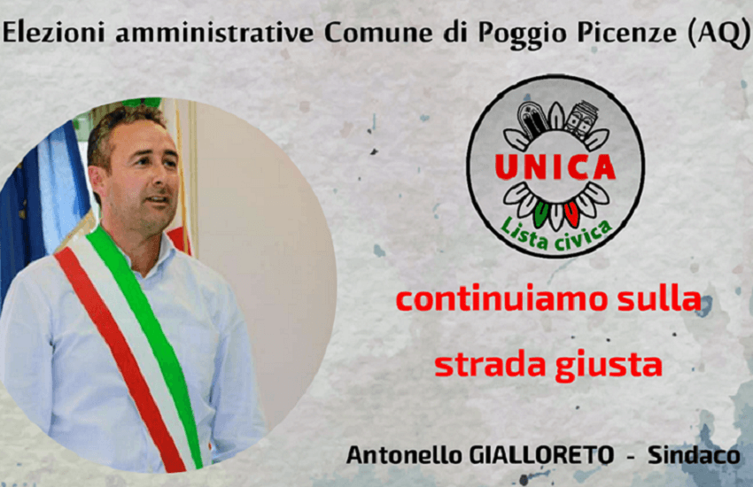 Antonello Gialloreto candidato sindaco a Poggio Picenze