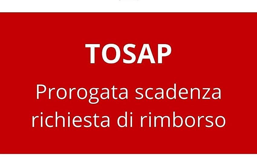 Nuova proroga per la richiesta di rimborso Tosap